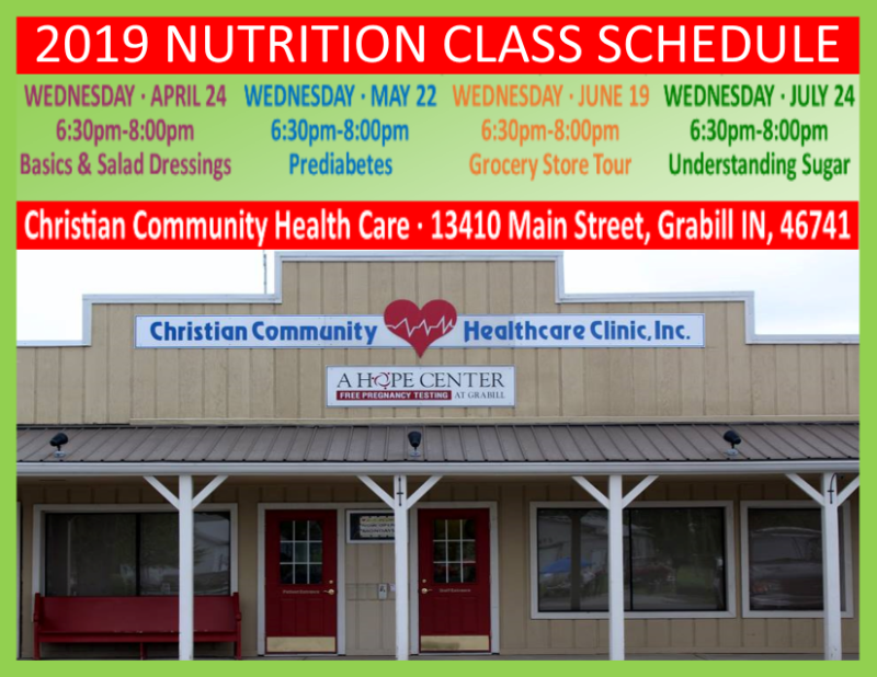 FREE Nutrition Classes