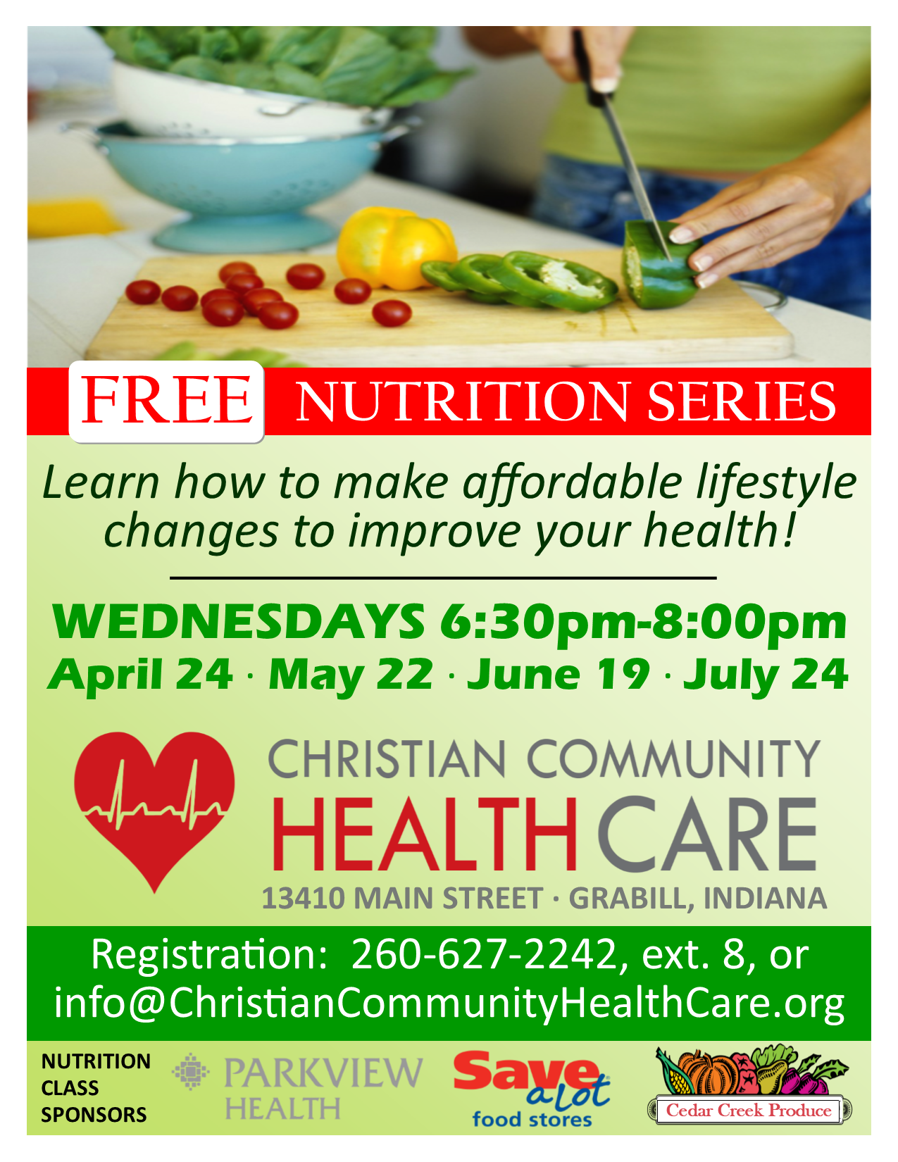 FREE Nutrition Classes | Grabill Indiana