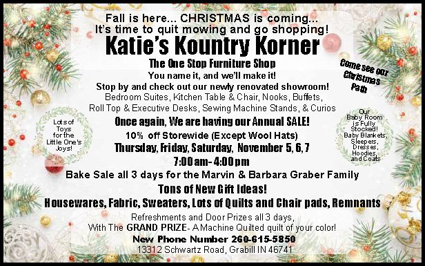 Katie's Kountry Korner Annual Sale