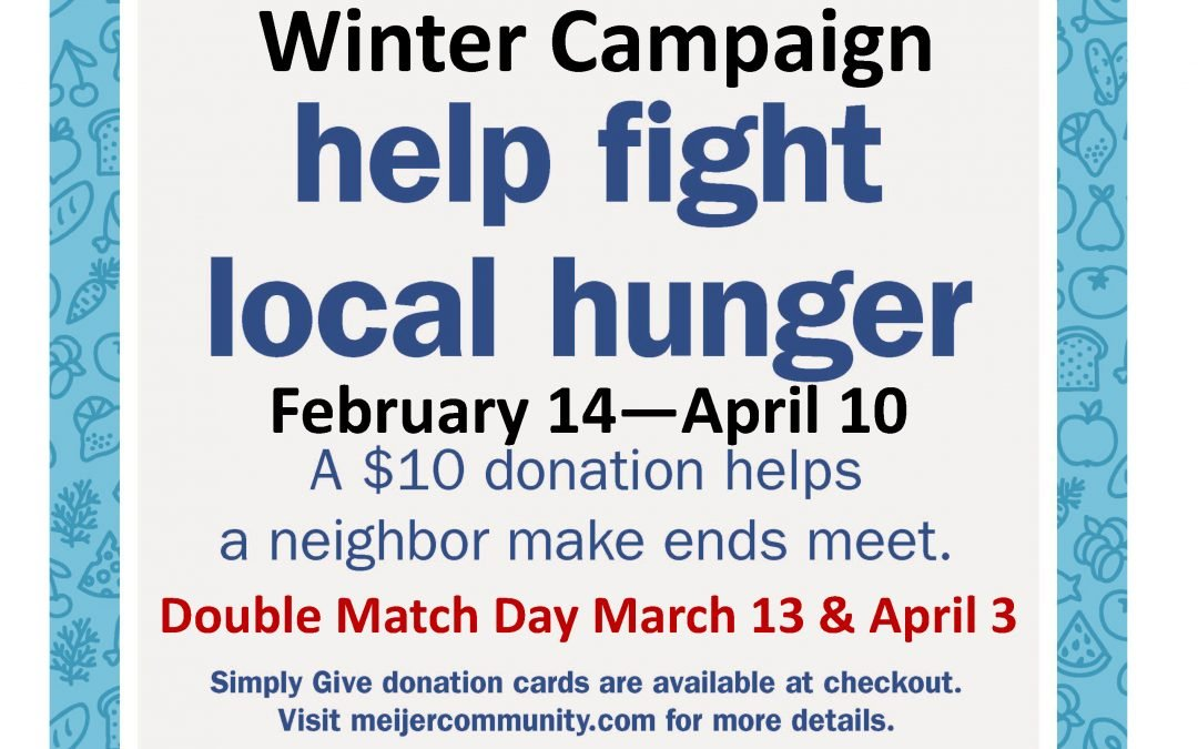 "Meijer – Illinois Rd   Partners with Grabill Food Bank for Winter ""Simply Give"""